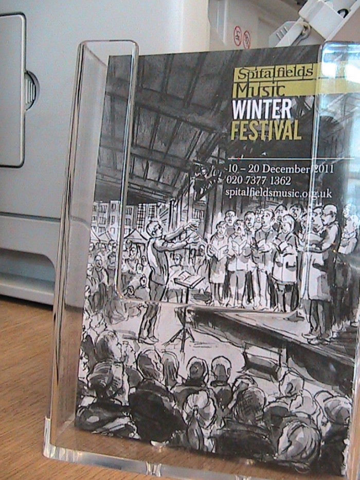 Spitalfields Music Winter Festival 2011 Brochure
