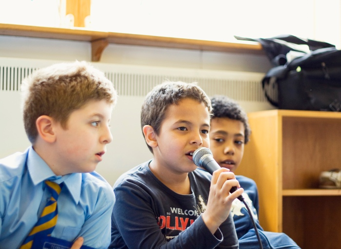 Boys from The Cherry Trees School in rehearsal