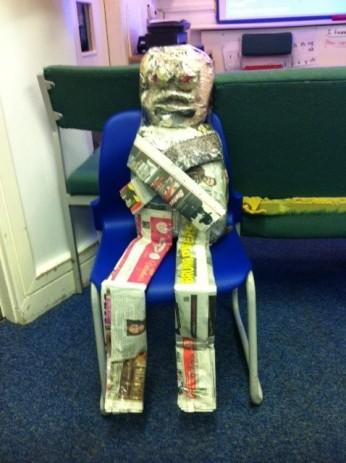 Newspaper Puppet 2