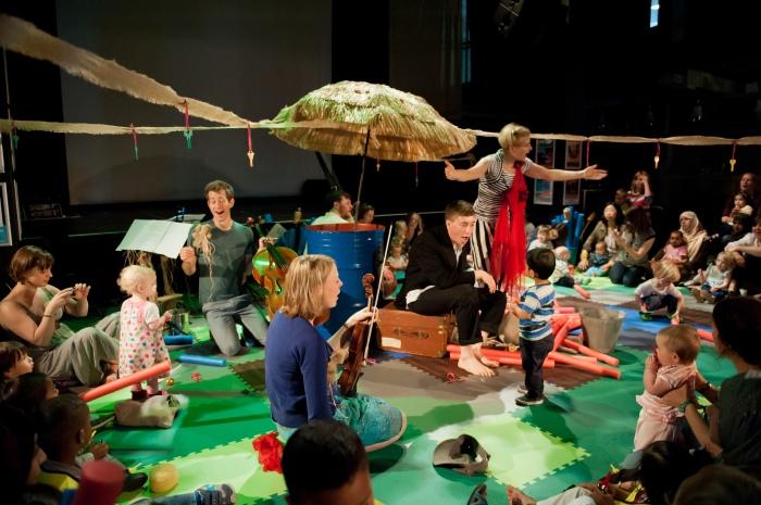 Babies were allowed to run wild to Monteverdi in Musical Rumpus.