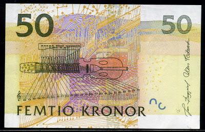 Sweden paper money 50 Kronor, 2004