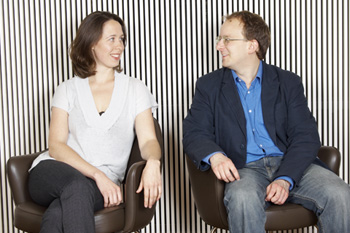 Co-founders of EXAUDI, Juliet Fraser and James Weeks