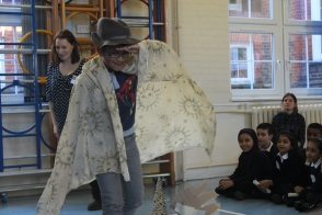 Acting out stories from Norse mythology